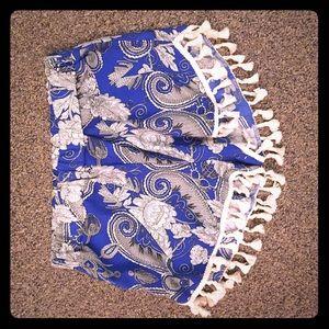 Blue Pom-pom shorts
